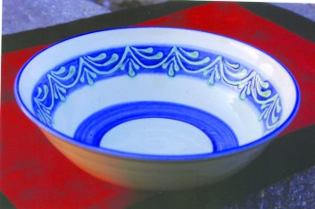 Hand decorated bowl